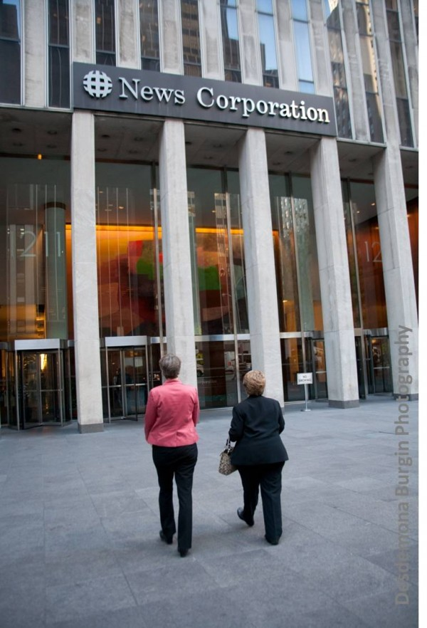Letters and post cards hand delivered to News Corporation Sept 21, 2012.