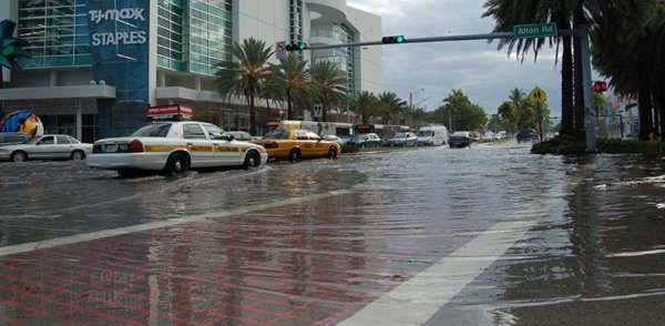 Sunny-day flooding in Florida, where policymakers are already grappling with climate change, including Rep. Carlso Curbelo (R), who represents the southern-most portion of the state.