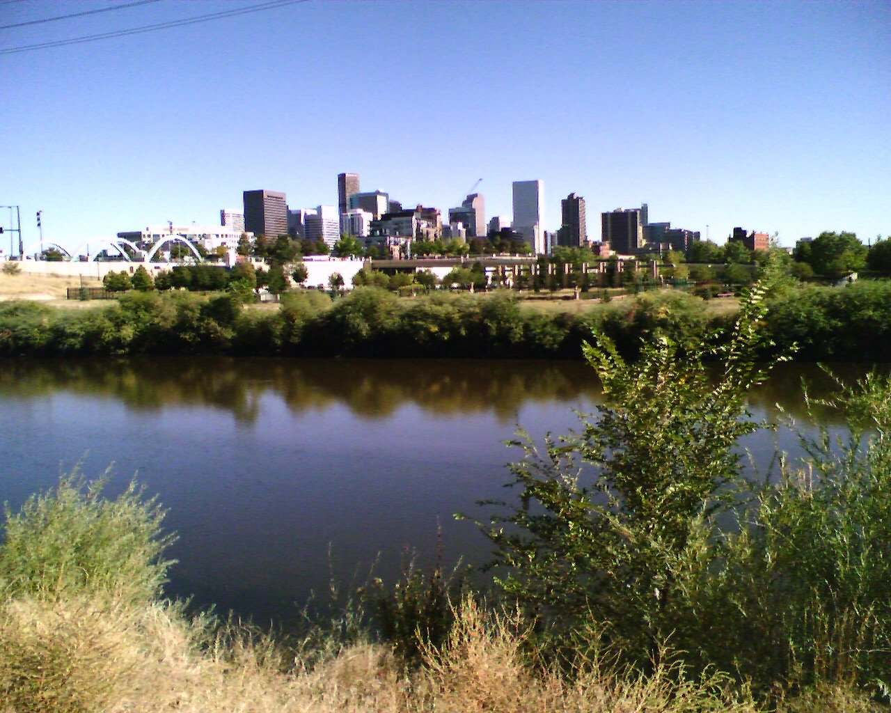 South platte River and city