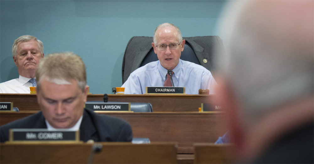 House Agriculture Committee chair Mike Conaway speaks at a hearing.